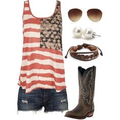 A fashion look from June 2013 featuring pink tank top, frayed cut off shorts and Laredo. Browse and shop related looks.