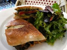 Café LULUc's Pressed Vegetable Sandwich
