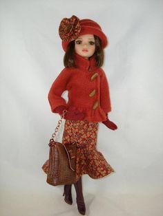 "Ellowyne Wilde Fashion Outfit 16"" OOAK Doll Clothes ""Autumn Leaves"" Lizette Pru ebay mopsytopsandlollipops"