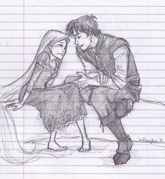 Rapunzel and Flynn by Burdge-bug.