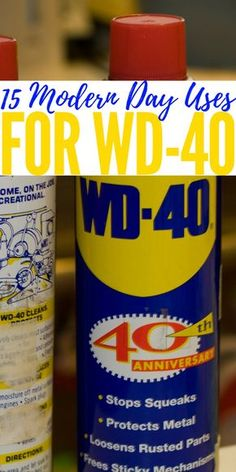 15 Modern Day Uses For WD-40 — As we all know WD-40 has always been known to stop creaks and squeaks but little do people know that it is as useful as duct-tape, if not more useful.