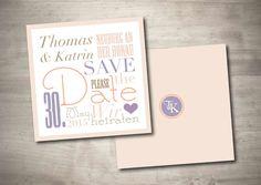Einladungskarten - Save the Date Karte - Café Paris - ein Designerstück von MazetDesign bei DaWanda