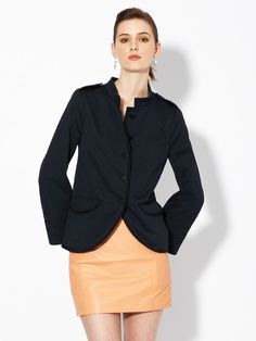 Obsidian Trimmed Military Jacket at Gilt