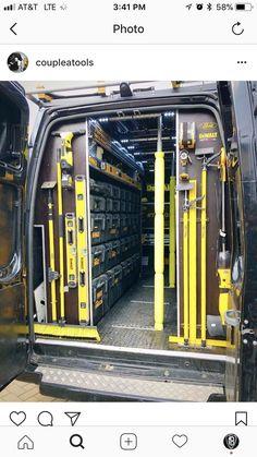 Trailer Shelving, Van Shelving, Trailer Storage, Truck Storage, Dewalt Storage, Garage Tool Storage, Van Storage, Van Organization, Dewalt Power Tools