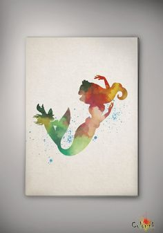 Hey, I found this really awesome Etsy listing at https://www.etsy.com/listing/187102049/ariel-disney-princess-mermaid-watercolor