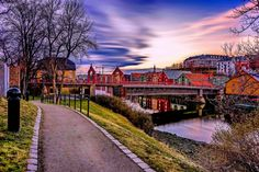 Trondheim, Gamlebybro and Bryggen by Aziz Nasuti on Trondheim, Norway, Places To Visit, Wooden Houses, Mansions, House Styles, City, Landscapes, Travel