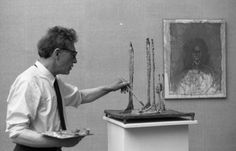 Alberto Giacometti at the 31° Venice Biennale in 1962, photographed by Paolo Monti (Fondo Paolo Monti, BEIC)