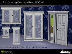 Set of 8 windows of the Sir Cunningham Window with no lead. All 4 Recolorable parts and 6 variations. Have fun Building. If you see the wall blended true the window, just click with the hand tool...