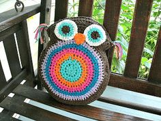 Free Crochet Owl Pillow/Stuffie Pattern Via Mama G's Big Crafty Blog :)