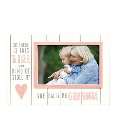 Look what I found on #zulily! 'She Calls Me Grandma' Frame #zulilyfinds