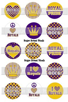 INSTANT DOWNLOAD ROyals Purple gold School by sugarnspicebow