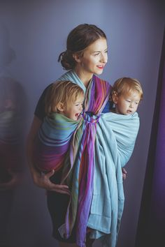 Baby wearing ring sling. Tandem baby wearing. Twins baby wearing. More details? Check my blog :)