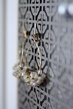 radiator grates jewelry holder~under $20 a Home Depot. Prettier than chicken wire:-)