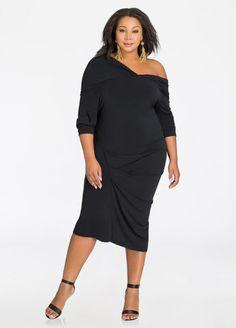 84f7a6ad8a3 Plus Size Dresses - Terry Cloth Dress - Drawstring Waist Terry Cloth Dress  Plus Size Cocktail