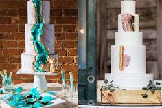 Wie stylisch sind bitte diese Hochzeitstorten in Stein-Optik? - Très Click