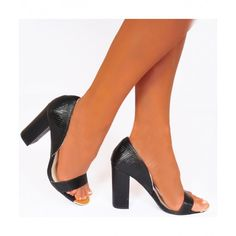 Koi Couture Ladies Black Lizard DB2 High Heels £29.99 (FREE UK Delivery) Item in Stock | Usually dispatched within 24 hours