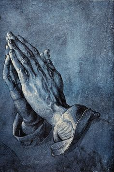 ART PAINTING....PRAYING HANDS....PARTAGE OF MP.....