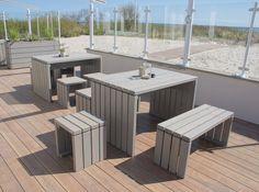 Inspirational Gartenm bel Set Hocker Holz Transparent Grau Caf Strandliebe Ostsee