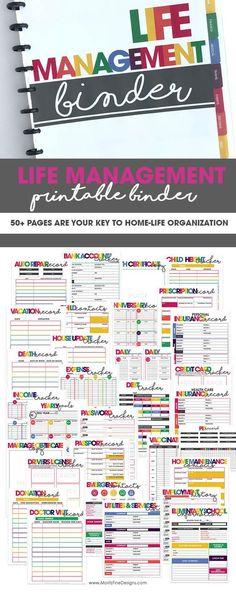 Ideas Medical Binder Organization Printables Household Notebook For 2019 Household Notebook, Household Binder, Planner Pages, Life Planner, Happy Planner, 2015 Planner, Planner Sheets, Blog Planner, Weekly Planner