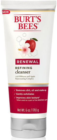 Burt's Bees Renewal Refining Cleanser https://api.shopstyle.com/action/apiVisitRetailer?id=471018332&pid=uid2500-37484350-28