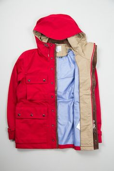 Red Gore-Tex Cruiser Jacket by Nanamica