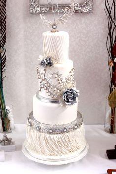 Silver Brilliance Wedding cake