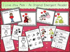 Freebie Mother's Day Emergent Reader Pack - includes gift book to make for Mom