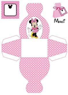 Enfeites de Aniversário Minnie e Mickey para Imprimir Mickey Party, Minnie Mouse Party, Mickey Mouse, Minnie Mouse Favors, Pink Minnie, Diy Gift Box, Diy Box, Printable Box, Printables