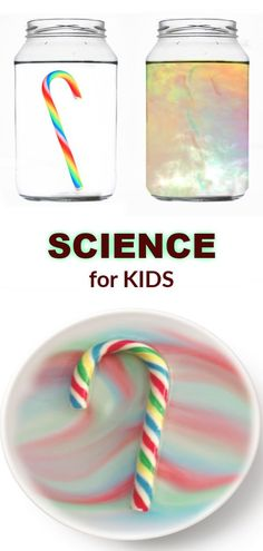 Make a candy cane disappear right before your eyes! Candy cane rainbow experiment for kids (FULL TUTORIAL) Science Experiments Kids, Science Fair, Science For Kids, Science Activities, Science Projects, Science Centers, Summer Science, Physical Science, Science Education