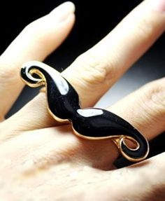 I like the mustache ring but I'm not sure if I like that you have to wear it on two fingers.  It might feel funny.