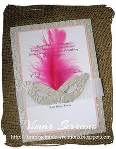 ¡Invitaciones de pluma para Quinceañera! ¿Qué qué?