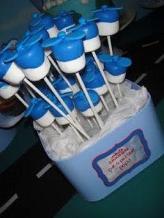 airplane cake pops/marshmallows