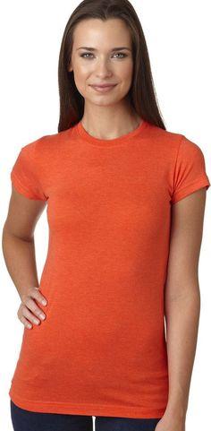 lat ladies' junior fit vintage fine jersey tee - vintage orange (s)