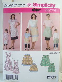 Simplicity 4692 Sewing Pattern Mother Daughter by WitsEndDesign