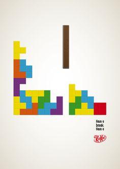 Kit Kat by JackJamy , via Behance Advertising, Ads, Typography, Behance, Graphic Design, Logos, Poster, Letterpress, Letterpress Printing