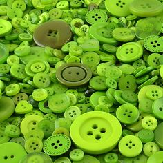 100g Small Mixed Buttons Green Shades APPROX 300 Great Quality Small Buttons