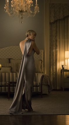 House Of Cards: Claire Underwood's White House wardrobe includes a glamorous state dinner gown by Ralph Lauren Collection