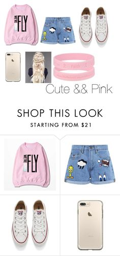 """""""Cute && Pink"""" by immig2003 on Polyvore featuring Paul & Joe Sister, Converse, cute, Pink and fashionset"""