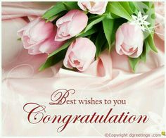 A beautiful card to congratulate someone. Congratulations Quotes Promotion, Wedding Congratulations Quotes, Congratulations Quotes Achievement, Wedding Wishes Messages, Wedding Day Wishes, Wedding Greetings, Wedding Congratulations Card, Congratulations And Best Wishes, Happy Birthday Messages