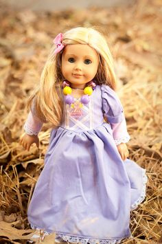Rapunzel American Girl Doll Chunky Necklace by MyMagicalVacation, $4.95