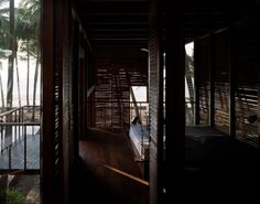 Studio Mumbai, Palmyra House, Nandgaon, Maharashtra, India, Helene Binet | Remodelista [Everything about this residence is as though someone opened up my brain and stole the dreams I've held since childhood about a dark, breezy tropical home full of wood and open to the outdoors. Looking at this is uncanny and makes me so jealous I'm nearly sick to my stomach]