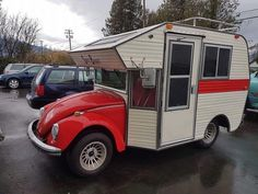 These campers made from 1970's VW Bugs are the cutest things ever | Inhabitat - Green Design, Innovation, Architecture, Green Building
