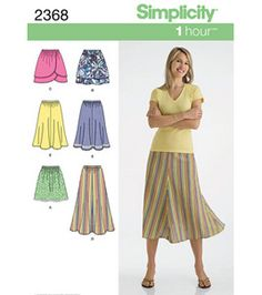 Simplicity Pattern 2368H5-Misses Skirts Pants-Sz 6-14 : Skirts & Pant Patterns : sewing patterns : fabric :  Shop | Joann.com