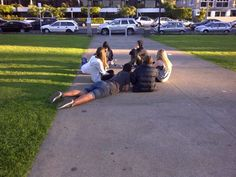 enjoying warm n each other company outside at the Mission Bay park Auckland. Mission Bay, Auckland New Zealand, The Outsiders, Dolores Park, Warm, Travel, Voyage, Viajes, Traveling