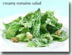 Creamy Romaine #Salad #recipe