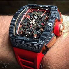 Beautiful shot of the Richard mille RM011 NTPT Rose Gold.