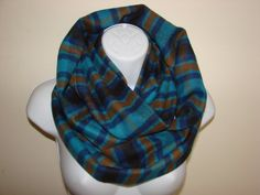 blue brown plaid infinity scarf taupe flannel by OtiliaBoutique Plaid Infinity Scarf, Plaid Scarf, Blue Brown, Navy Blue, Blanket Scarf, Red Plaid, Womens Scarves, Flannel, Taupe