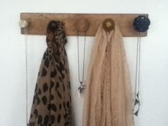 Door knob wall fixture you can hang your scarves or your necklaces on!!!