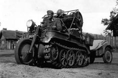 The HK 101 is one of the most distinctive vehicles ever to see military action. Designed and patented in 1939 for use by forestry workers, it was adapted for military purposes when the Germans invaded the Soviet Union in 1941. Powered by an Opel four-cylinder 36 hp engine, it had a top speed of 44