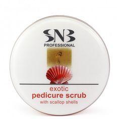 SNB Scrub Exotic pentru picioare cu extract de scoici pentru pedichiura face parte din categoria manichiura si pedichiura. Scallop Shells, Exotic, Nails, Finger Nails, Ongles, Nail, Sns Nails, Nail Manicure